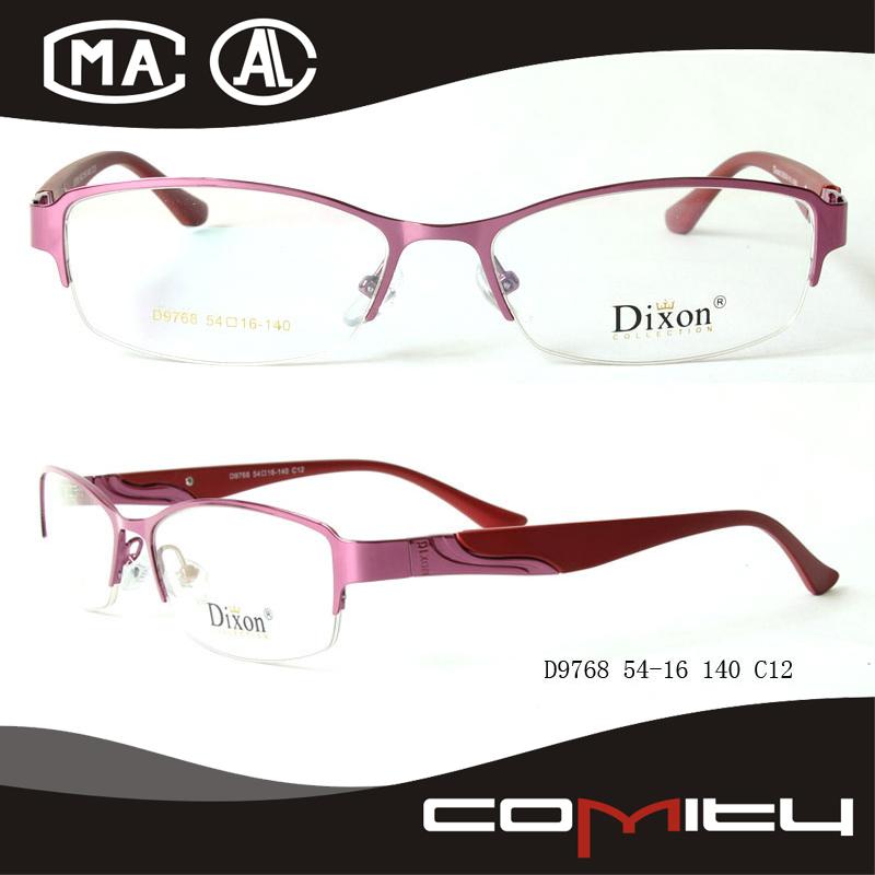 de nuevo diseño de metal marco óptico marco de anteojos con alta ...