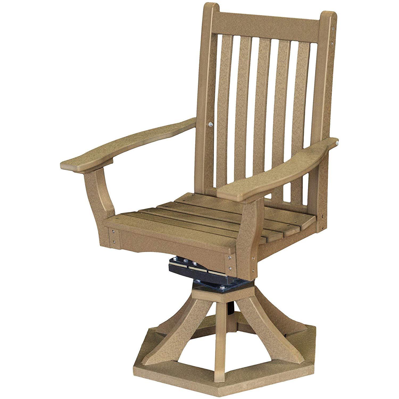 Wildridge Heritage Outdoor Swivel Rocker Side Chair w/Arms - Ships in 10-14 Business Days