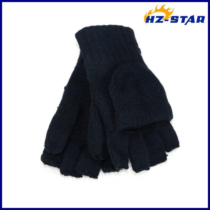 HZS-13064004 new useful touch snow custom winter bike warm knitted gloves without fingers