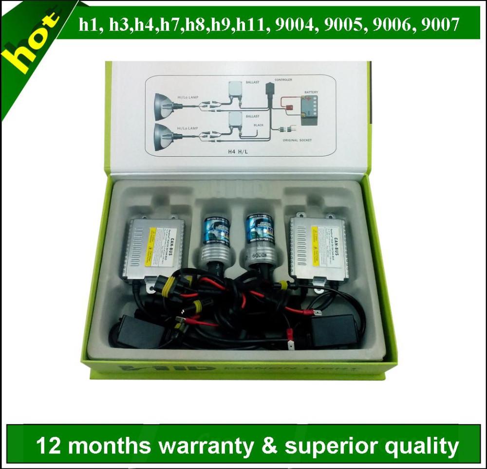 T10 5SMD C H1 H7 55w SUPER WHITE XENON Upgrade Headlight Bulbs Set Hi Lo Beam