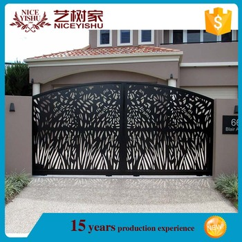 Indian New Outdoor Modern Aluminum Gate Designs For Homes Cast Aluminum Ornaments Latest Wrought Iron Main Gate Design Buy Aluminum Gate Designs