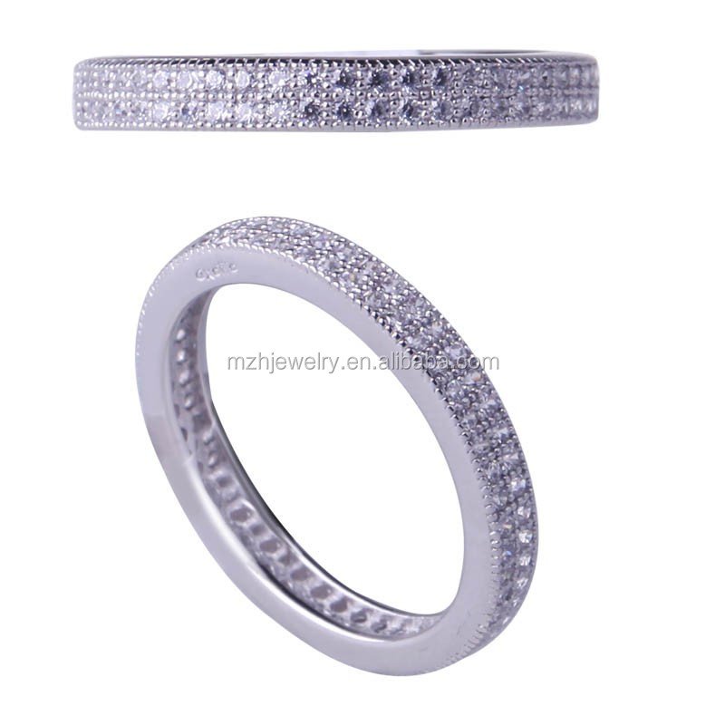 Best Quality engagement wedding band sterling 925 italian silver ring Guangzhou factory