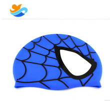 Novelty Hot Batman Custom Printed Silicone Swimming Cap For Kids