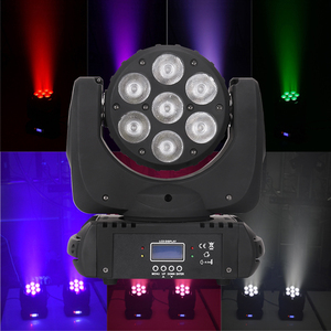 New 7pcs 12w RGBW 4in1 beam moving head wash light zoom moving head light sky