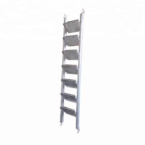 Steel platform catwalk ladder mobile work step with handrail for  construction