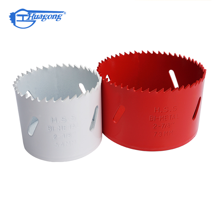 Efficient cutting center drill bits hss m42 bi metal hole saw for metal