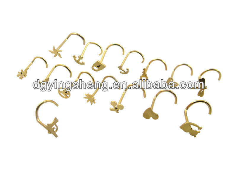 Indian gold nose studs piercing nose ring