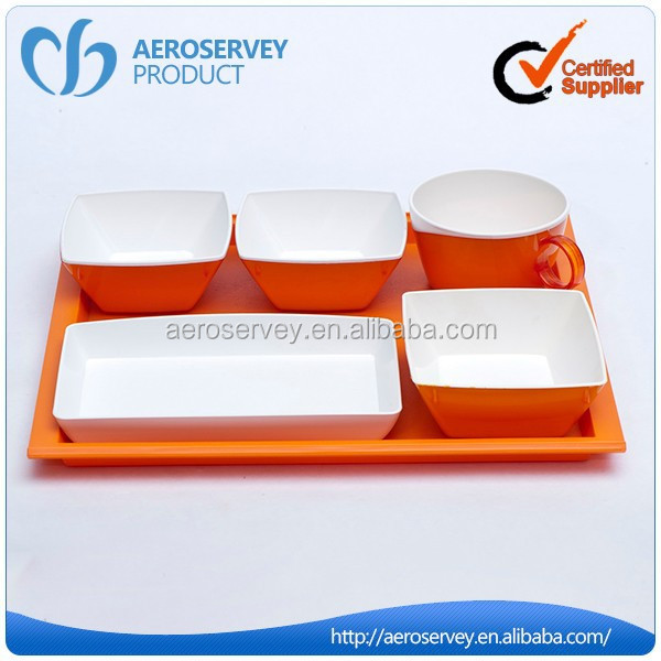 High quality customized luxury AS reusable airline dinner set dinnerware