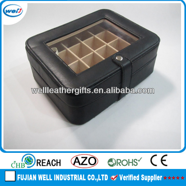 Customized wooden PU jewellery tray for diamond ring