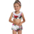 Global Vogue Mom and Me Swimsuit Family Party Mother Girl Floral One Piece Work Out Bathing Suit Swimwear Bikini Beachwear