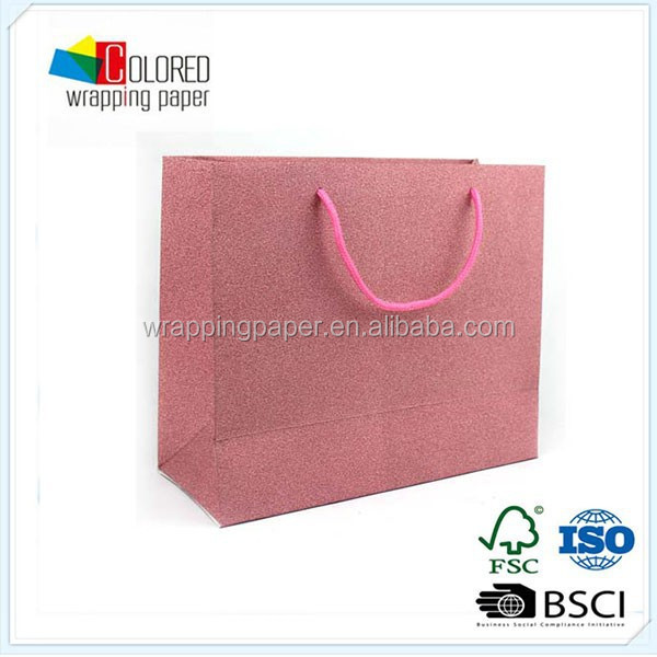 China factory glitter gift paper bags fancy paper gift bag