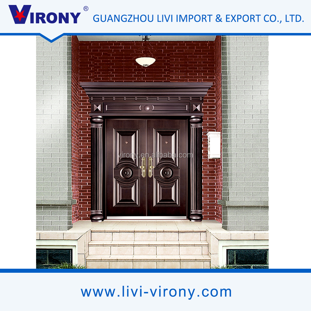 High quality economic customized safety exterior metal doors