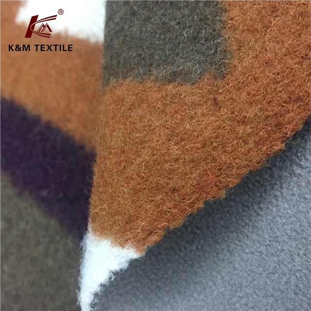 Wool polyester blended fabric 40% wool 60% polyester compound fabric for winter jacket