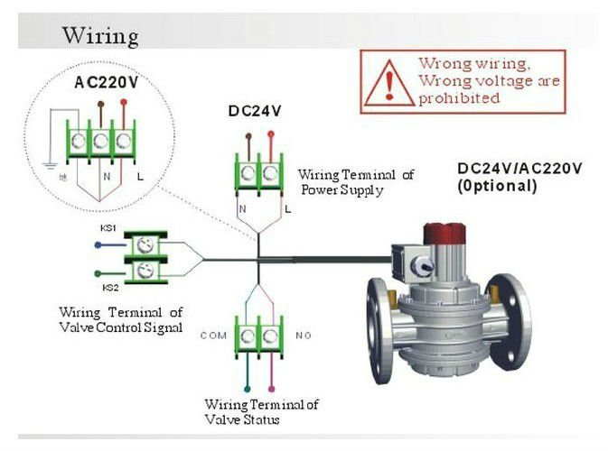 Electromagnetic Gas Shutoff Valve With Detector Dn25