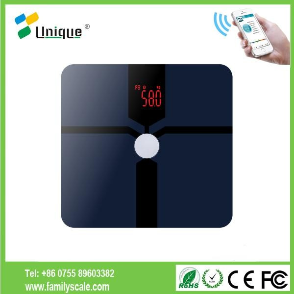 fashion modeling digital electronic platform body fat scale with app health tracker