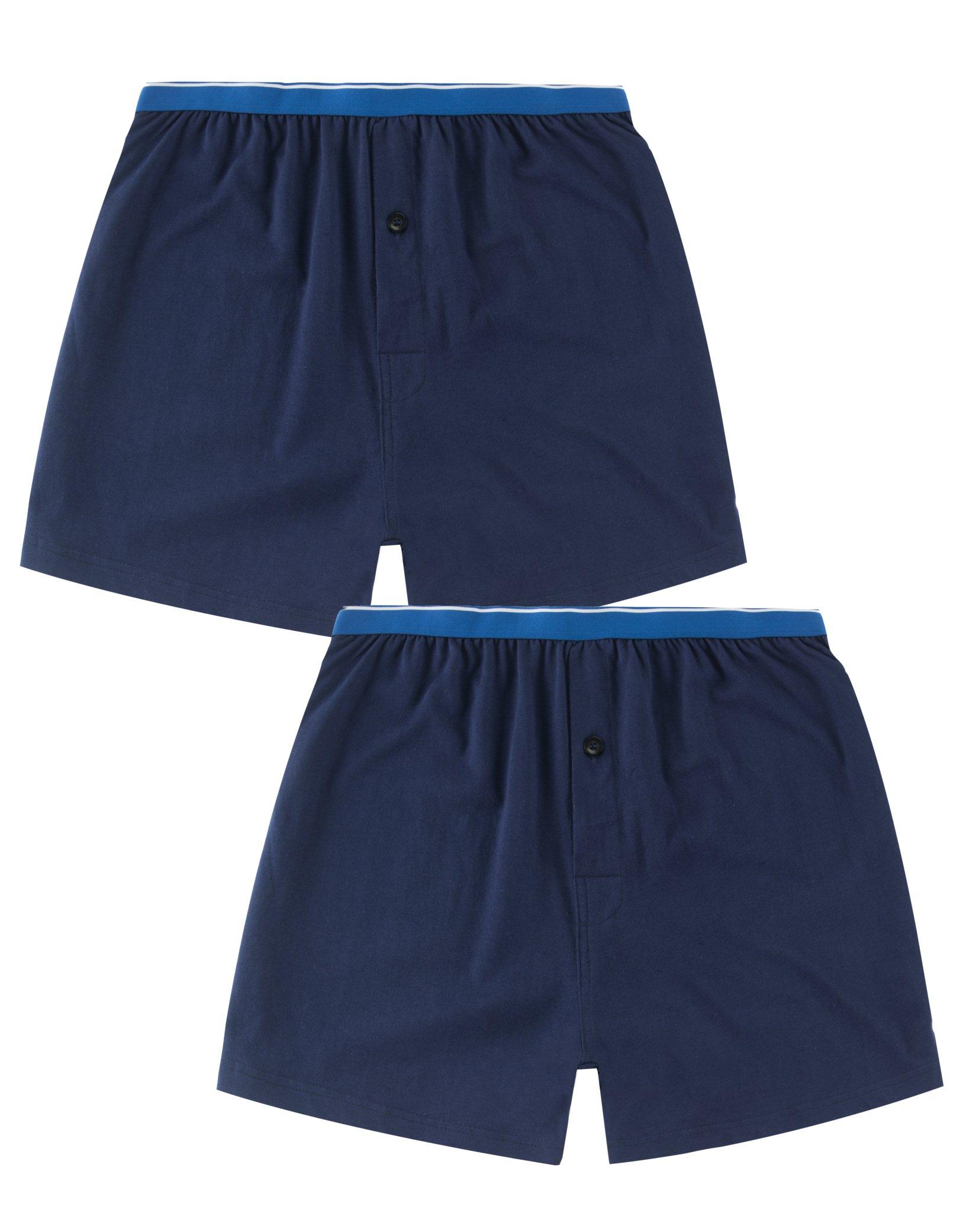 4bc45ed414b CYZ Mens Multi-Pack 100% Cotton Knit Boxers Pajama Bottoms - Sleep Lounge  Shorts