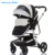 2018 New Baby Pram China Baby Stroller Manufacturer ZHILEMEI Baby Stroller 3 in 1 With Car Seat