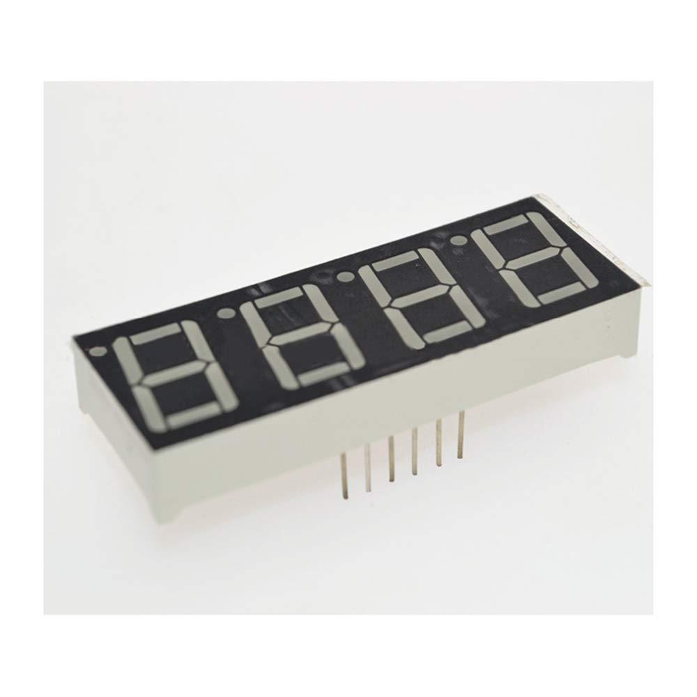 HUIMAI 0.56inch 4bit Common Cathode Digital Tube Red LED Digit Display 7 Segment 0.5inch 0.5 0.56 inch 0.56#39;#39; 0.56in. 4 Four bit