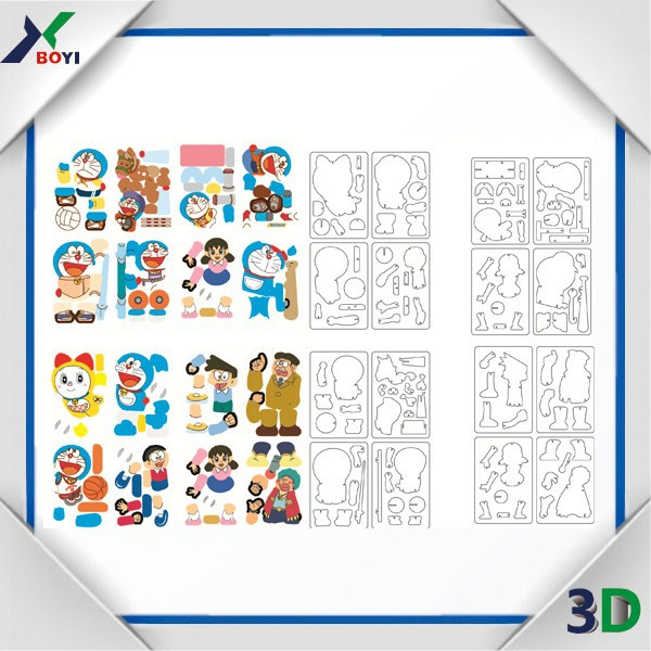 3D jigsaw puzzle toy/puzzle card,puzzle games for children food promotion gifts