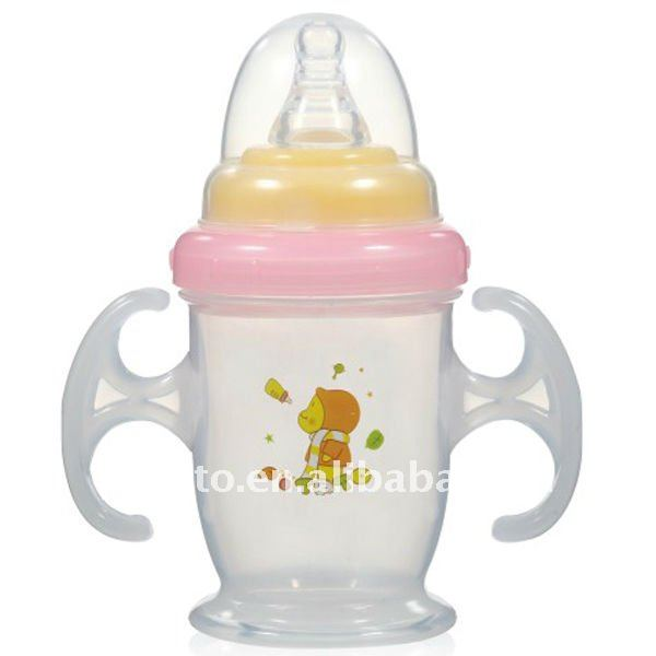 BPA free pp baby nipple training cup with handle