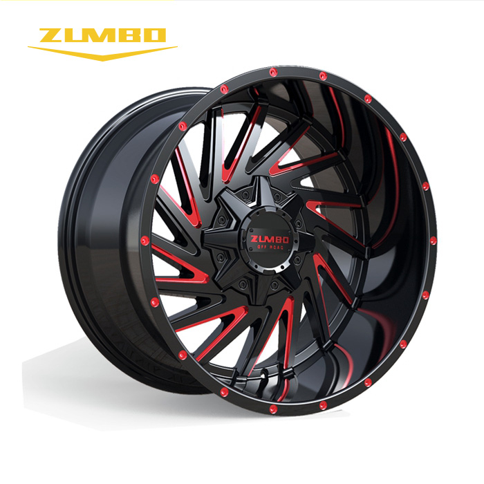 "Zumbo-A0095 Black milled/red aluminum wheel rim New design 20"" alloy mag wheels aluminum rims"