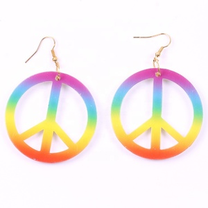 Fashion jewelry wholesale simple peace symbol fancy stud earring for woman