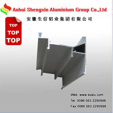 white powder coated aluminum extrusion profile