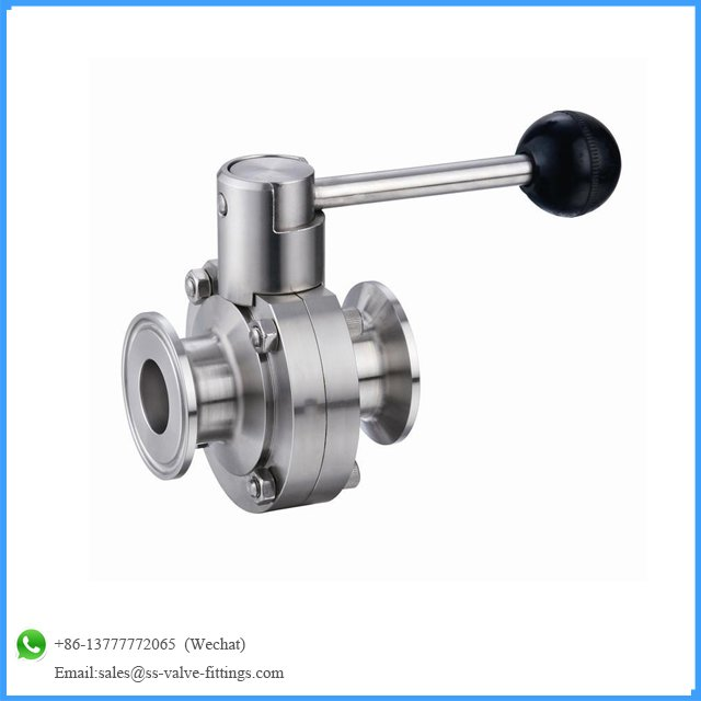 MG Stainless Steel 316L Butterfly Valve dengan Clamp End