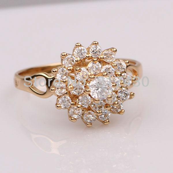 Gold Wedding Ring Price: Low Price Wholesale Sparkling Wedding 18K 18ct Yellow Gold
