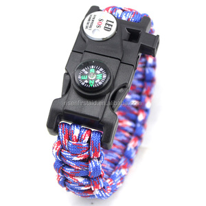 High Quality Outdoor,Camping,Hiking Multifunction Paracord Survival Bracelet
