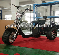 2018 new manufacture three wheels big tire trike atv adult tricycle 3 wheel electric scooter