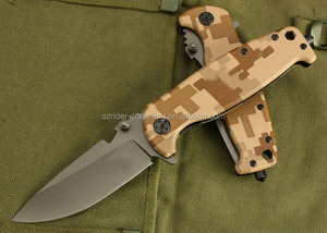 OEM camo utility survival folding knife and handle can fix hex crews