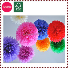 Mint, Lilac and Grey Paper Pom Pom Decorations