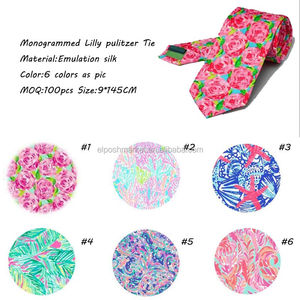 Wholesale Personalized Monogrammed Slik Lilly Pulitzer Inspired Tie