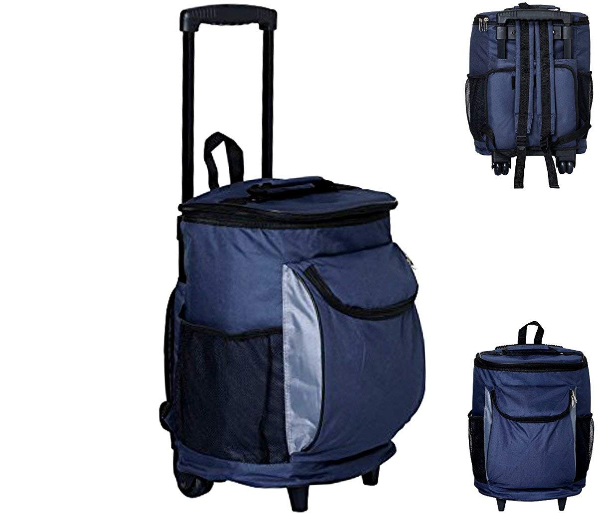 1294bdb084d5 Get Quotations ·  1 Best 40-Can Insulated Cooler Bag on Wheels   Telescopic  Handle   Backpack