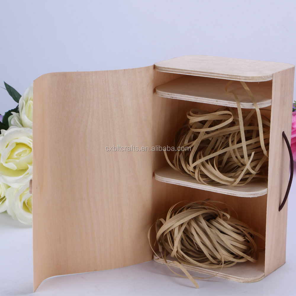 China supply wooden packaging box beautiful round metal gift wood boxes with compartment