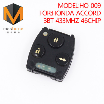 Great Remote Control Auto Car Key For Honda Accord 3button 433MHz ID46  Transponder Chip