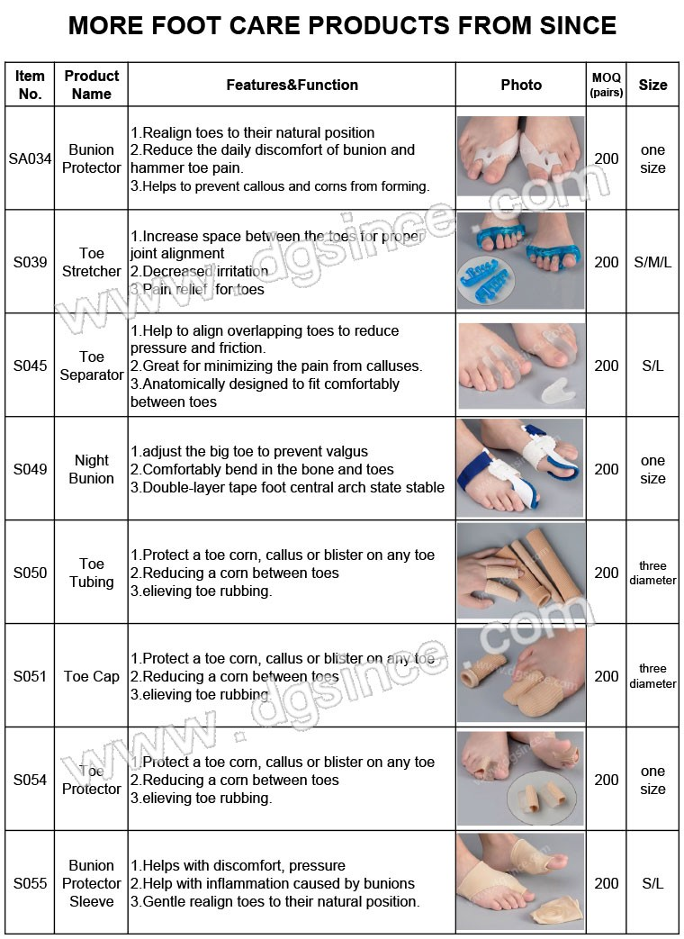 china supplier gel toe separator health orthopedic spreader feet care bunion corrector hallux valgus toe protector