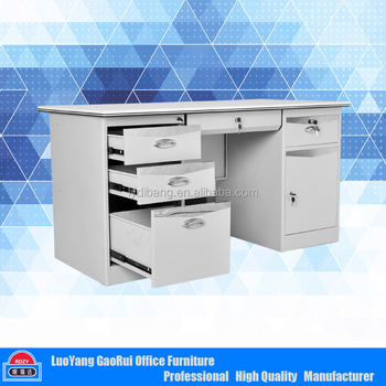 Steel Office Desk With Locking Drawers Metal Furniture Executive