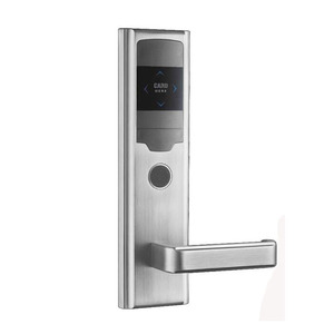Waterproof biometric battery operated hotel door lock system price