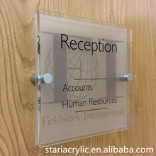 Door Sign Acrylic Plates , Green Acrylic Room Numbers Display Block