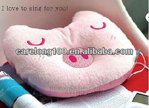 Piggy Cartoon Sleeping Nap Music Pillow for Ipod MP3 MP4 DVD