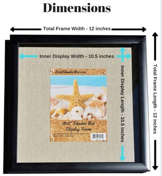 "12x12 ""Display Shadow Box Frame Linnen Achtergrond 8x8 shadow box frame"