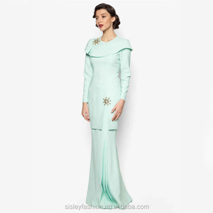 New design islamic clothing fashion design Abaya beading Baju Kurung Modern XTY813