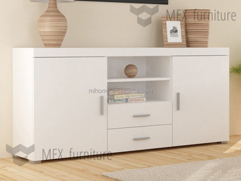 White Sideboard New Cabinet Modern Living Room Furniture Set Cupboard TV UNIThigh Gloss