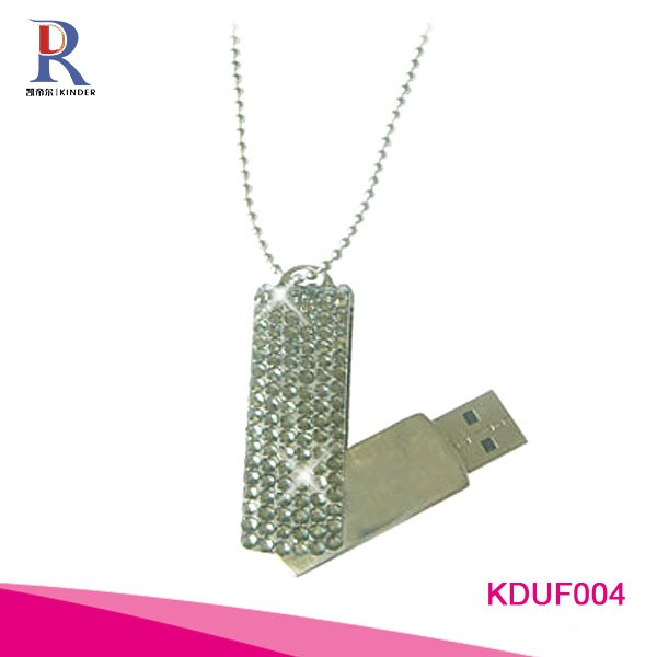 Rhinestone bling bling crystal usb flash drive