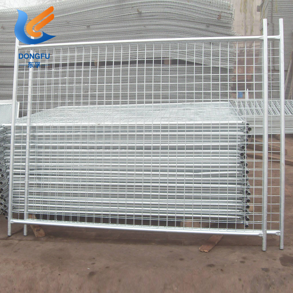 Wholesale China products galvanized retractable portable round tube security temporary fence