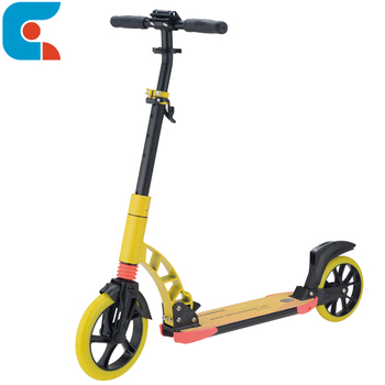 Hot sale cheap two 200mm big wheel folding adults kick scooter manufacturer