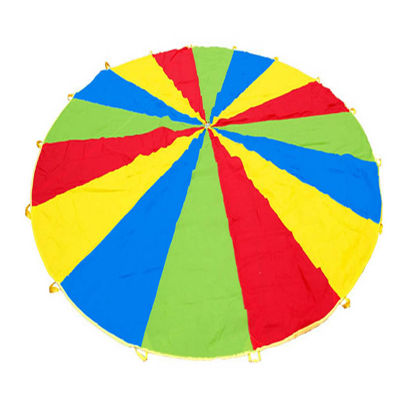 6cm Outdoor Rainbow Umbrella Nylon Fabric Game Umbrella for Kids Colorful Parachute Toy