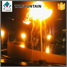 Customized Decorative Music Fire Mix Water Seagull Swing Fountain